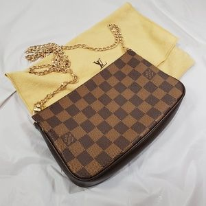 Authentic Louis Vuitton damier ebene pochette